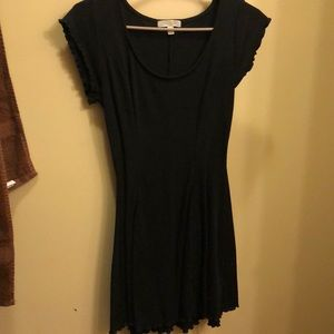 Black, fitted dress